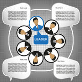 Business leader of the team design, flat style. Digital vector image Royalty Free Stock Photography