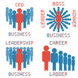 Business leader vector set Stock Photo