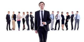 Business leader walking Royalty Free Stock Photos
