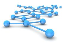 Business leadership and network concept stock image