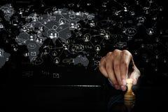 Business leadership strategy . Mixed media Stock Photo