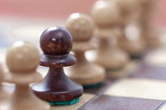 Business leadership, teamwork concept. Game of chess Royalty Free Stock Photos