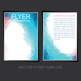 Business leaflet or flyer design Royalty Free Stock Photo
