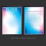 Business leaflet or flyer design royalty free illustration