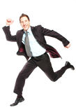 Business leap royalty free stock photography