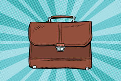 Business leather briefcase Stock Images