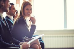 Business lecture Stock Images