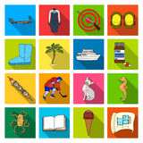 Business, leisure, tourism and other web icon in flat style.  Royalty Free Stock Photo