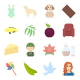 Business, leisure, trade and other web icon in cartoon style.mail, girl, hairstyle icons in set collection. Stock Images