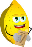 Business lemon holding contract Royalty Free Stock Images