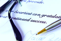 Business letter royalty free stock image