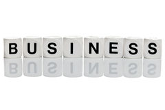 Business in letter blocks royalty free stock images