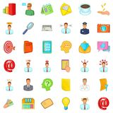 Business letter icons set, cartoon style. Business letter icons set. Cartoon style of 36 business letter vector icons for web isolated on white background Royalty Free Stock Images