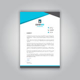 Business letterhead. With a modern design Royalty Free Stock Images