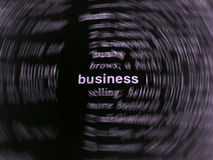 Business letters. Black and white business letters abstract background royalty free stock photography