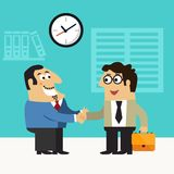 Business life hire scene royalty free illustration