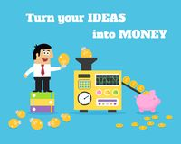 Business life ideas money converter royalty free illustration