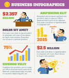 Business life infographics vector illustration
