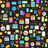 Business life seamless pattern. Vector Royalty Free Stock Photo