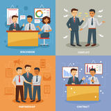 Business life set Royalty Free Stock Images