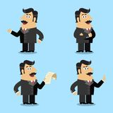 Business life shareholder poses stock illustration