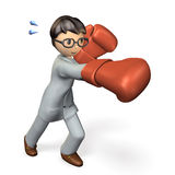 Business is like boxing. Stock Images