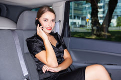 Business in Limo Royalty Free Stock Photography