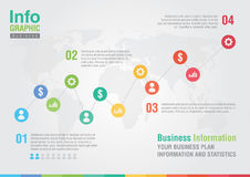 Business line chart infographic. Business report creative market Royalty Free Stock Image
