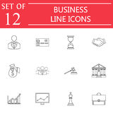 Business line icon icon set, finance and managment. Symbols collection, marketing vector sketches, logo illustrations, linear signs isolated on white background Royalty Free Stock Photography