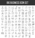 Business line icon set Stock Photo