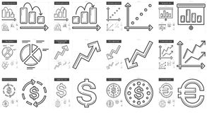 Business line icon set. Business vector line icon set isolated on white background. Business line icon set for infographic, website or app. Scalable icon Stock Photo