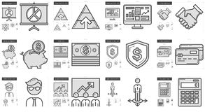 Business line icon set. Business vector line icon set isolated on white background. Business line icon set for infographic, website or app. Scalable icon Royalty Free Stock Photo