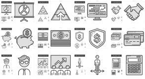 Business line icon set. Business vector line icon set isolated on white background. Business line icon set for infographic, website or app. Scalable icon Royalty Free Stock Photos