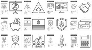Business line icon set. Business vector line icon set  on white background. Business line icon set for infographic, website or app. Scalable icon designed on a Royalty Free Stock Photo