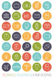 Business Line Icon Vector Set Stock Photo
