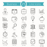 25 Business Line Icons Royalty Free Stock Image