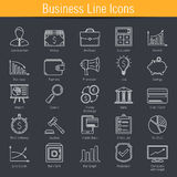Business Line Icons. 25 Business, finance, e-commerce line icons Stock Photography