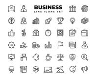 Business line icons. Finance target service support career award presentation idea strategy solution. Business vector. Business line icons. Finance target stock illustration