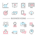 Business Line Icons Set Royalty Free Stock Image