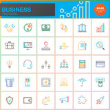 Business line icons set, outline vector symbol collection, linear colorful pictogram pack isolated on white Royalty Free Stock Image