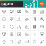 Business line icons set, outline vector symbol collection, linear pictogram pack  on white Stock Photography
