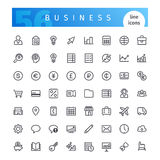 Business Line Icons Set Stock Images