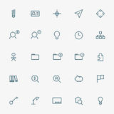 25 business line icons. Vector Royalty Free Stock Image