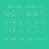 Business Line Icons Stock Photo