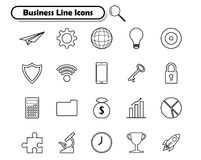 Business Line Icons On White Background. Vector Illustration Ready-To-Use 21 Business Line Icons On White Background Designed as Multiple Objects Involved In Stock Photo