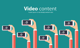 Business on line video marketing content concept. Business video marketing content online concept Stock Photo