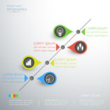 Business linear graph idea infographics modern design. Stock Images