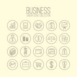 Business Linear Icons Stock Photo