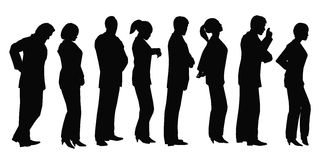 Business lineup Royalty Free Stock Image