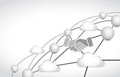 business link network handshake concept Stock Photo